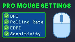 What the Pros are Using (DPI, Polling Rate, EDPI) - Mouse Settings