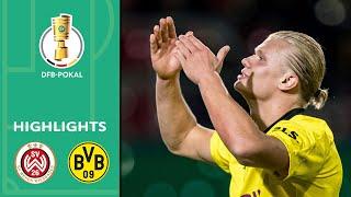 3 Goals! Haaland unstoppable | Wiesbaden vs. Borussia Dortmund 0-3 | Highlights