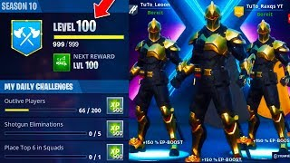 WORLDS FIRST LEVEL 100 FORTNITE SEASON X! What do you GET at LEVEL 100 in Fortnite Season X?!