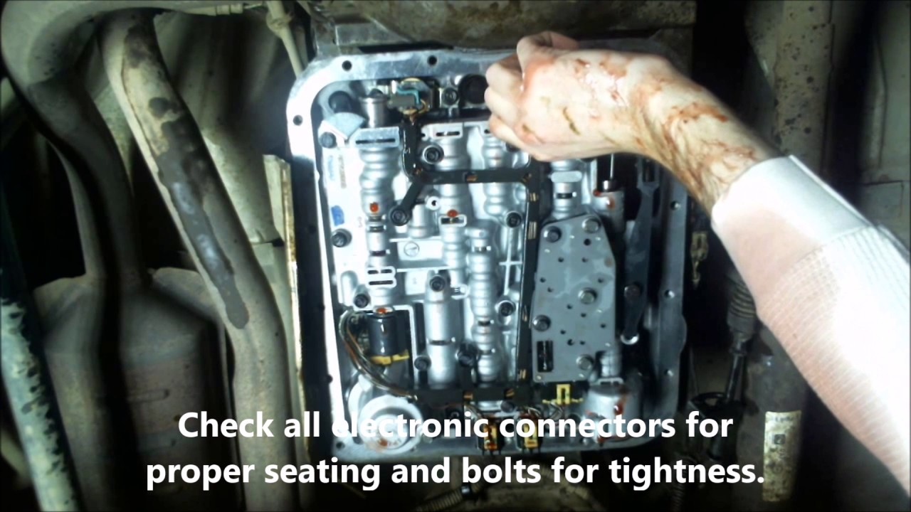 how to change 4l60e transmission oil fluid filter on a 1997 chevy suburban [ 1280 x 720 Pixel ]