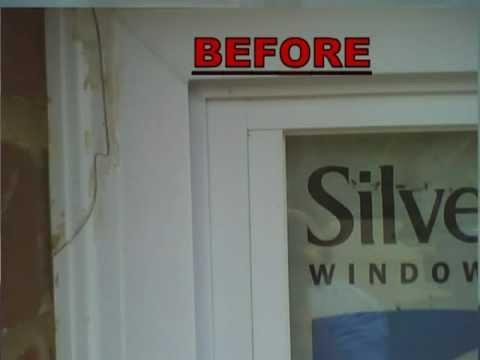 REPAIR VINYL WINDOW FRAMES - YouTube