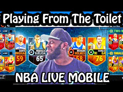 NBA Live Mobile - Playing While On The Toilet - Pack Opening