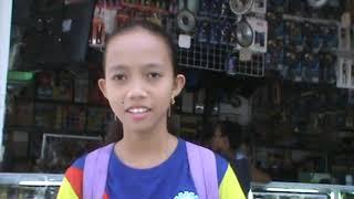 Litltle Filipina Arnis Martial Arts Girl by Roadside, Bislig, Surigao, 2019