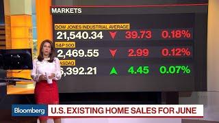 U.S. Existing Home Sales Decline 1.8% in June