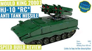 Mould King 20001  HJ10 Anti Tank Missile  Speed Build Review