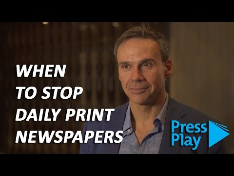 Convincing management to end daily print newspapers: La Pres