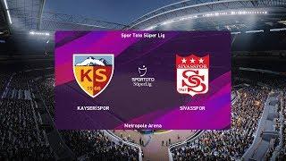 PES 2020   Kayserispor vs Sivasspor - Turkey Super Lig   24 November 2019   Full Gameplay HD