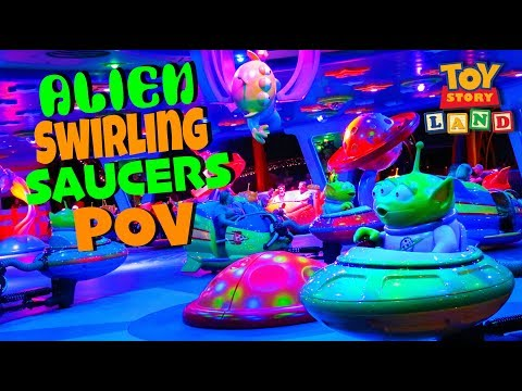 Alien Swirling Saucers FULL ON RIDE POV- Toy Story Land