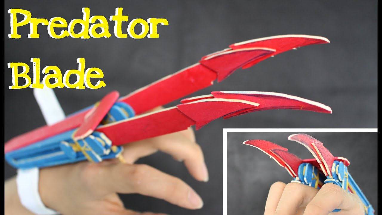 How To Make Wooden Predator Blade Using Popsicle Sticks
