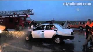 Muşta otomobiller çarpıştı 3 ölü, 8 yaralı