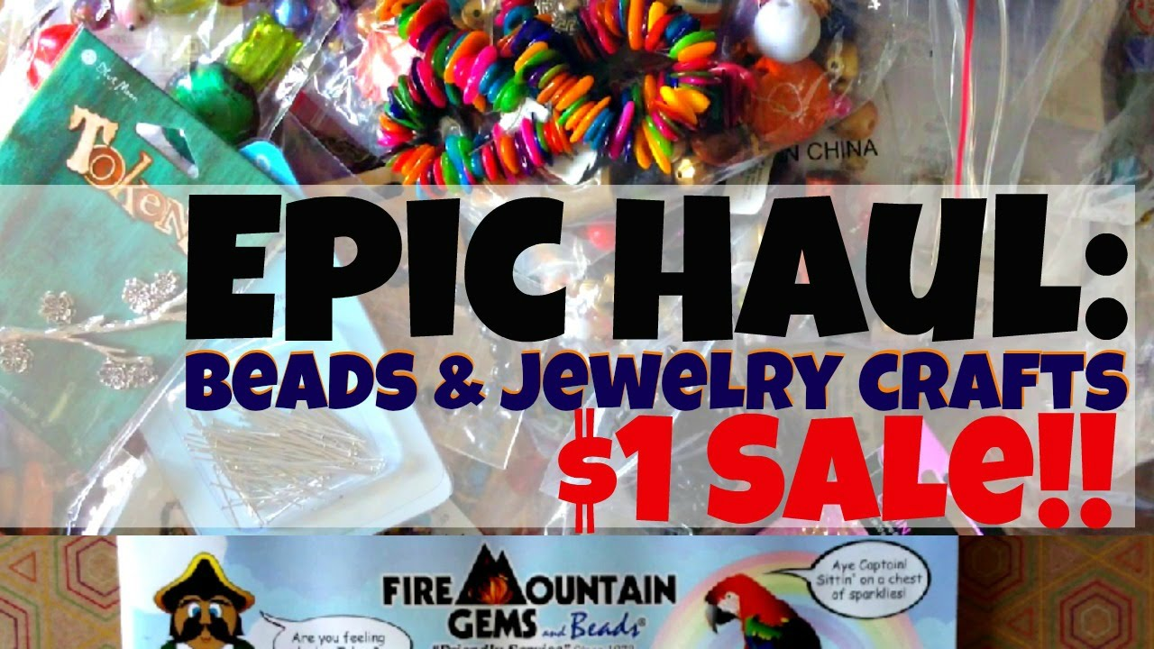 8271824d96b Epic Bead & Jewelry Crafts Haul: Fire Mountain Gems $1 Sale (Dollar Store  Crafts)