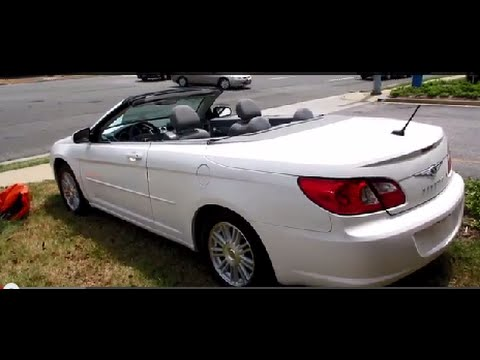 2008 Chrysler Sebring Touring Convertible Walkaround Start Up Tour And Overview You