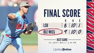 HIGHLIGHTS | Ole Miss defeats LSU 9-8 (Game 3) 04/28/18 #WAOM #FinsUpRebels