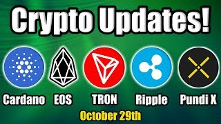 Top 5 Crypto Performers Overview: Cardano, EOS, Ripple, Tron, Pundi X [Bitcoin News]