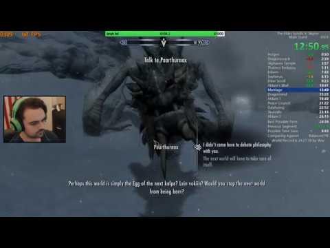 Skyrim Main Quest Speedrun PB 25:46 IGT (1/26/19) thumbnail