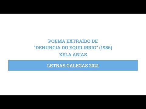 Poema de Xela Arias | Letras Galegas 2021