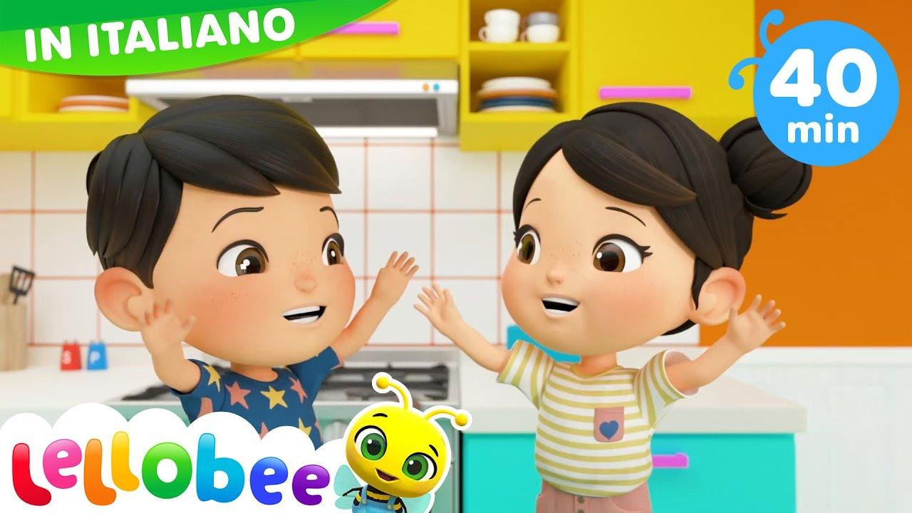 Lavo Le Mani - Ollie y Ella - 40 minuti di Canzoncine per bebè | Little Baby Bum Italiano