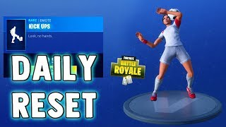 fortnite daily reset new items in item shop - fortnite shop reset