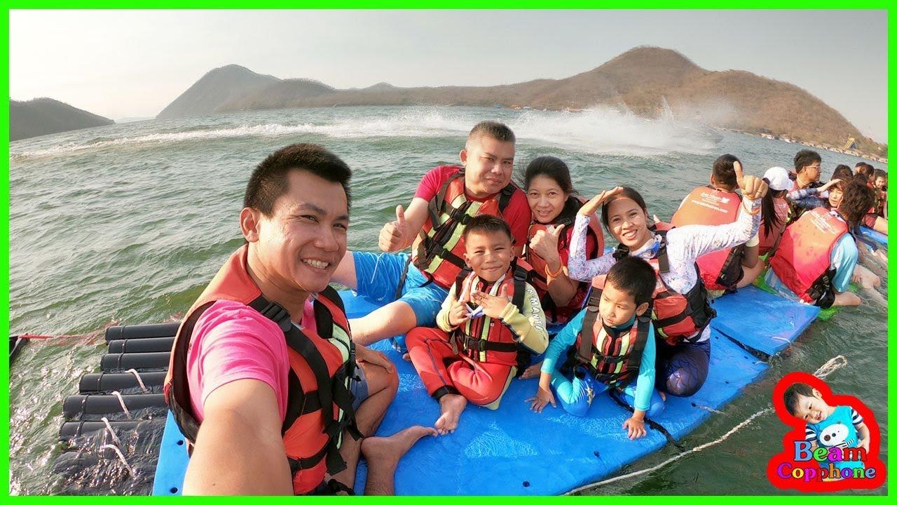 น้องบีม | ล่องแพเปียกเล่นน้ำเหนือเขื่อน เที่ยวกาญจนบุรี เลคเฮฟเว่นรีสอร์ท