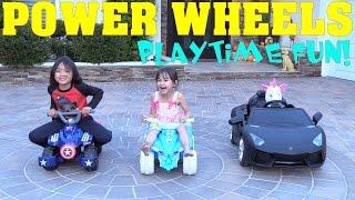 Power Wheels! We Love Power Wheels! Quad Bikes and Lamborghini Aventador Supercar