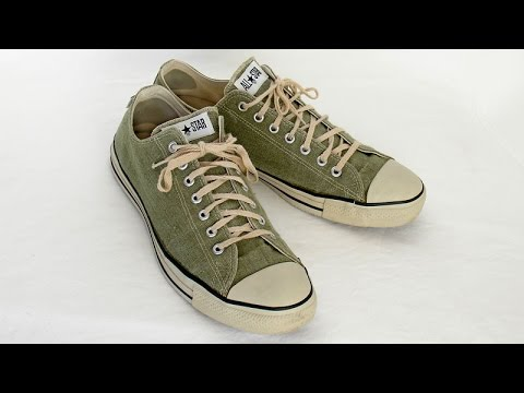 90eef1f0c4a8 HEMP Vintage USA-MADE Converse All Star Chuck Taylor shoes size 13 at  collectornet.net