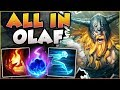 HIT ONE AXE IN LANE 100 KILL GUARANTEED ALL IN OLAF SEASON 8 TOP GAMEPLAY League Of Legends mp3