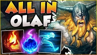 Hit One Axe In Lane = 100% Kill Guaranteed?? All In Olaf Season 8 Top Gameplay!   League Of Legends