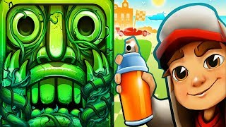 Temple Run 2 Lost Jungle VS Subway Surfers Monaco Android iPad iOS Gameplay