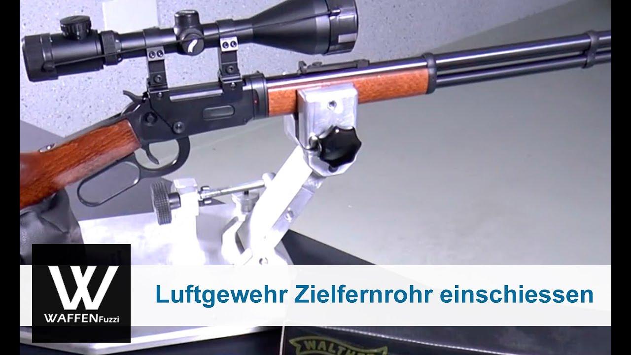 Luftgewehr mit einem zielfernrohr einschiessen 1.teil www