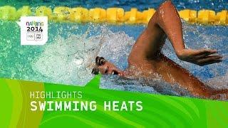 Swimming Heats - Highlights | Nanjing 2014 Youth Olympic Games