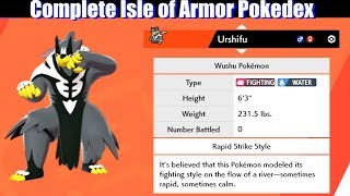 Complete Isle of Armor Pokedex / All New Pokemon - Pokemon Sword & Shield
