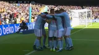 Celta Vigo First Goal   Aspas Goal    Barcelona vs Celta vigo 0-1