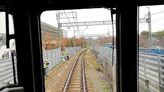 【前面展望】京王井の頭線 工事中の高井戸駅 2019年12月