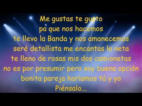 Banda Ms - Piensalo( letra)  Estreno 2015