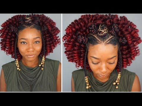 black protective hairstyles braided