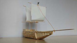 How to build a Match stick ship | Match stick crafts | Kids Crafts using Match Sticks