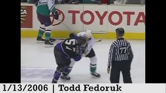Top Ten NHL Hockey Fights of George Parros