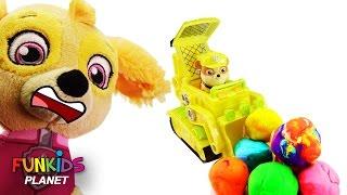 Best Learn Colors Videos For Children Paw Patrol Bulldozer Surprise Eggs Preschool Skye & Rubble
