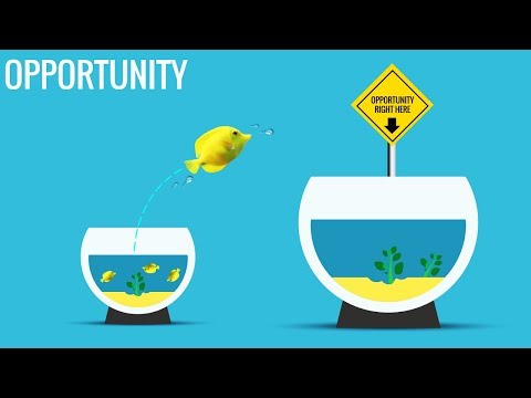 Opportunity Slide | Fish Bowl Template In PowerPoint | Time To Take The Leap