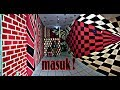 How to paint optical illution *CAT TEMBOK 3D* WALL PAINTING