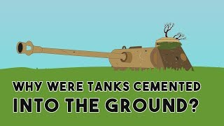 Why were tanks cemented into the ground?