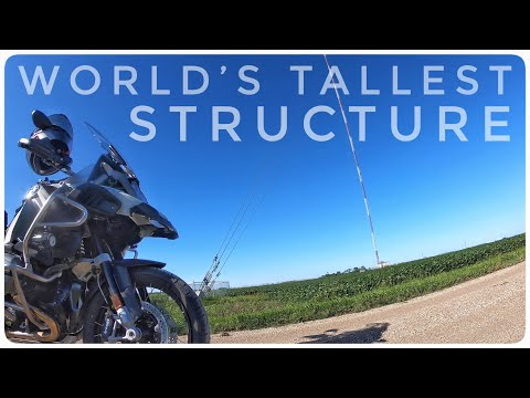 WORLD'S TALLEST STRUCTURE!!!! | KVLY-TV Mast N.D. | MN - UT Motorcycle Trip Pt. 1 | BMW R1200GSA