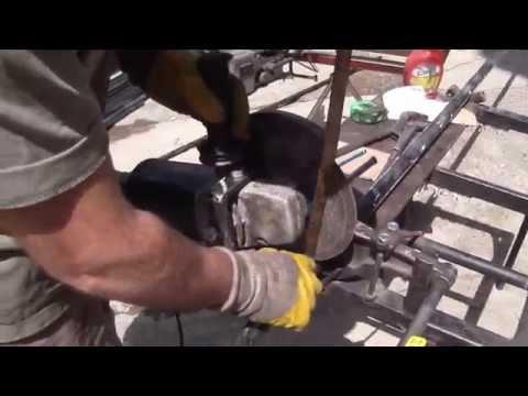 taşlama motoru ile basit metal kesimi