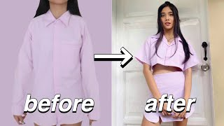 Transforming Old Clothes (no sewing machine needed)