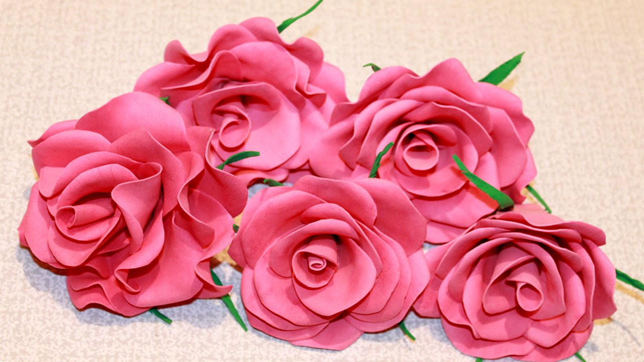 Розы из фоамирана видео