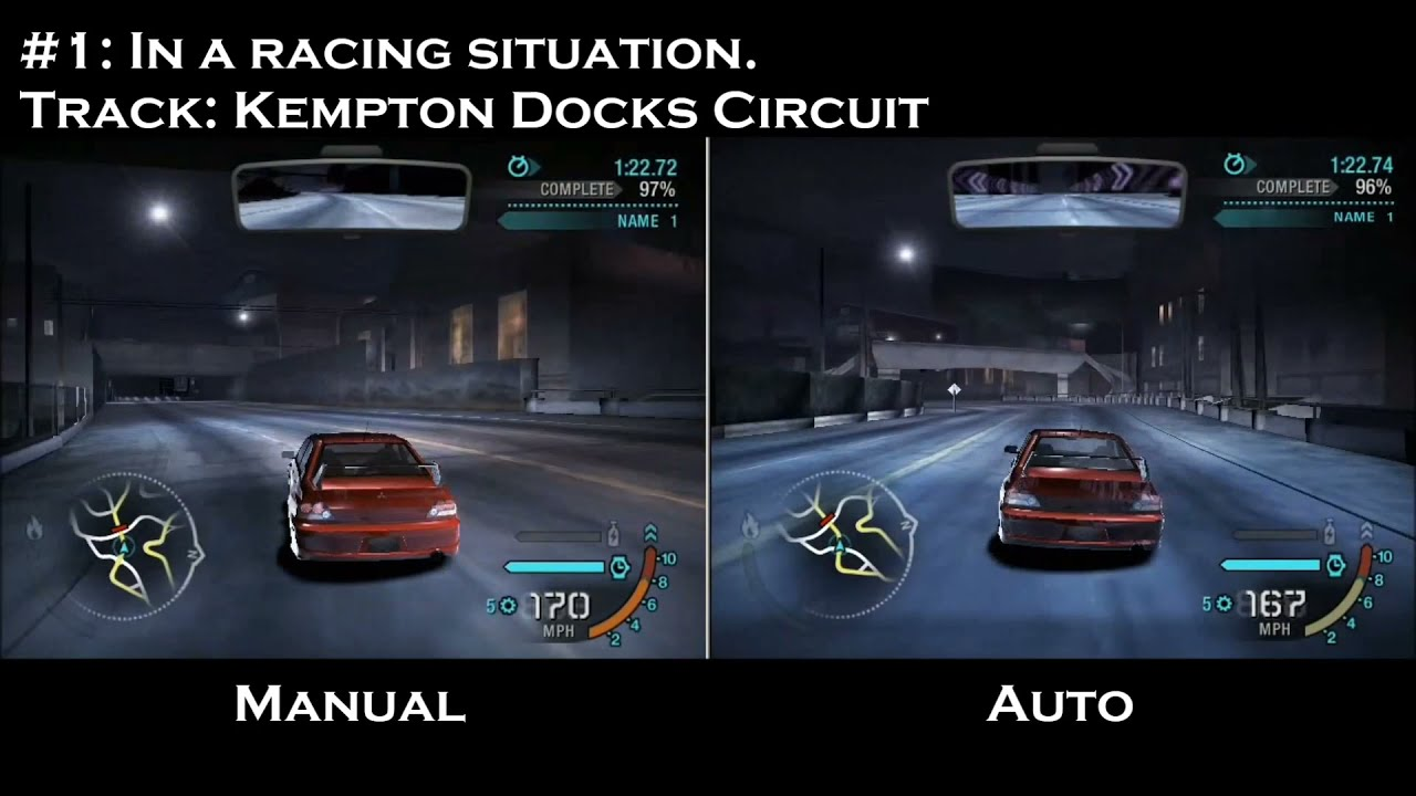NFS Carbon - Automatic VS. Manual Transmission