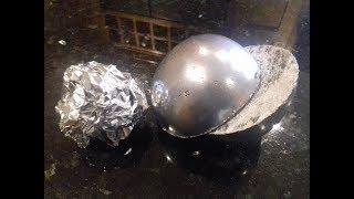 connectYoutube - Polished Aluminium Foil Ball ( Cut in half )