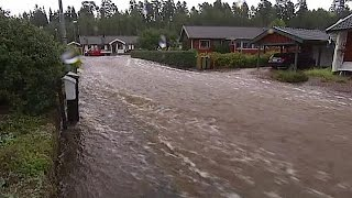 Inondazioni e piogge torrenziali. La Svezia sott