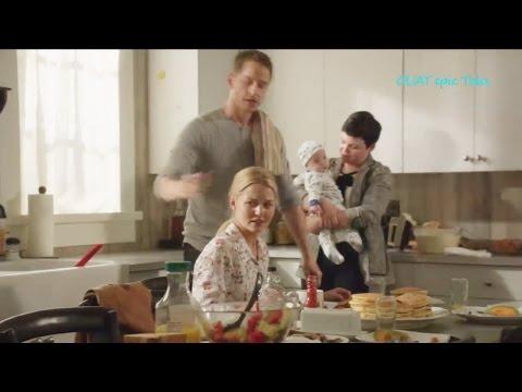 "Once Upon A Time 6x04 Emma Charmings Family Breakfast Regina ""Strange Case"" Season 6 Episode 4 HD"