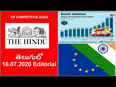 16.07.2020 The Hindu Editorial Analysis In Telugu || Today Hindu Editorial Analysis In Telugu